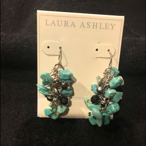 LAURA ASHLEY TURQUOISE AND SILVER  EARRINGS